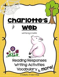 This Charlotte's Web novel study unit has it ALL, from reading responses, discussion group questions, vocabulary word wall, writing activities, a comprehensive end of the book assessment, plus SO much more!