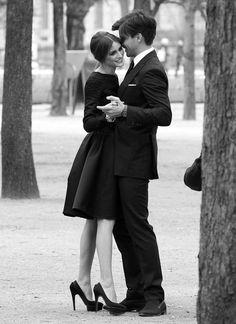 The Dapper Gentleman // engagement photo idea :)