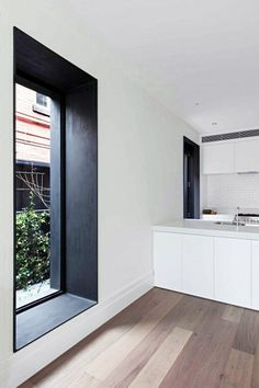 Home Interior Design — Beaconsfield Pde House Home Interior, Kitchen Interior, Interior Architecture, Windows Architecture, Interior Office, Interior Doors, Interior Ideas, Kitchen Design, Window Reveal