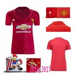 Vente Nouveau Maillot Football Manchester United Femme Domicile 2016-2017…