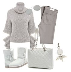 Hot cocoa by betzann on Polyvore featuring polyvore, fashion, style, AG Adriano Goldschmied, UGG Australia, Chanel, Alexander Wang, Acne Studios, women's clothing, women's fashion, women, female, woman, misses and juniors