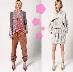 absolutely luuuuv that pinkish blazer and the grey one... super cas chic