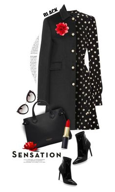 """Be Sensational in all Black!"" by angiesprad ❤ liked on Polyvore featuring Marc Jacobs, Gucci, Vision, Burberry, Jessica Simpson and Miu Miu"