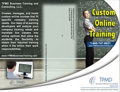 Custom Online Training @ TPMD Business Training