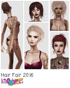 Hair Fair 2016 starts tomorrow, July 16th – are you as excited as I am? I've made five new hairs for you plus a gift hair! Please join the Hair Fair DEMO group: secondlife:///app/group/…