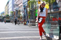 Your Outfit Today » Red trousers, September 2 2014