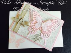 A special thankyou card using the butterfly framelits