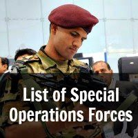 List of Special Operations Forces in India.The Special Forces of India are Indian Military units with specialized training in the field of special