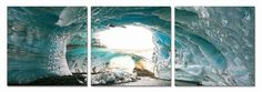Modrest Ice Cave 3-Panel Photo On Canvas VGSCSH-71774ABCProduct :16613Features:3 PanelsHorizontal LayoutDimension:Each Panel : W24