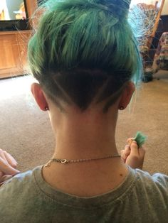 My new haircut!! Undercut hairstyle undercut design
