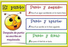 Uso del punto. Bilingual Classroom, Bilingual Education, Spanish Classroom, Kids Education, Classroom Ideas, Meaning Of Sentence, Spanish Anchor Charts, Teaching Techniques, Teacher Notebook