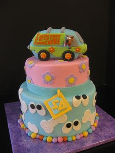 Scooby Doo Mystery Machine Cake-By The Mad Platters