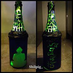Bottle Art, Buddha, Upcycle, Recycling, Creativity, Corner, Lights, Cool Stuff, Handmade