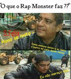 Ele frita pastel... Bts Memes, K Meme, Funny Memes, Kpop, Luhan, Bts Imagine, Bulletproof Boy Scouts, Rap Monster, Jikook