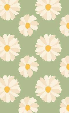 Vintage Wallpaper, Daisy Wallpaper, Cute Pastel Wallpaper, Phone Wallpaper Images, Flower Phone Wallpaper, Soft Wallpaper, Cute Patterns Wallpaper, Iphone Background Wallpaper, Aesthetic Pastel Wallpaper