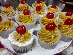Cupcakes de Piña y Coco