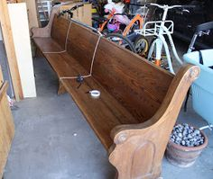 How to make a 10 foot church pew smaller to fit any room in your house