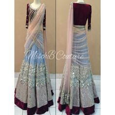 Impressive Gray Net Lehenga Choli comes with Maroon Color Velvet Choli, Light…