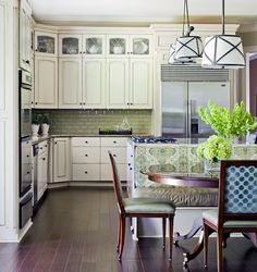 10 Eloquent Cool Tips: Inexpensive Kitchen Remodel Projects large kitchen remodel ceilings.Ikea Kitchen Remodel Built Ins kitchen remodel modern budget. Family Kitchen, New Kitchen, Kitchen Ideas, Kitchen Inspiration, Sage Kitchen, 1960s Kitchen, Long Kitchen, Stylish Kitchen, Awesome Kitchen