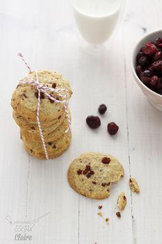 Galletas de arándanos y chocolate blanco (Cookies)