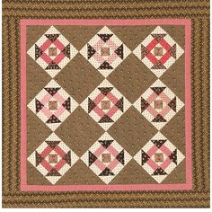 Dash of Pink Quilt- Love the colors of course