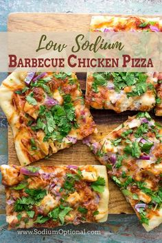 Low Sodium Diet Plan, Low Sodium Pizza, Low Sodium Recipes, Healthy Pizza Recipes, Healthy Menu, Healthy Eating, Salt Free Recipes, Honey Barbecue Sauce, Barbecue Chicken Pizza