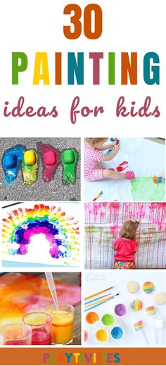These 30 Painting activities for kids are the must in our house. They all look super fun, most of them are easy to make and require no or just little set up. Also, it can be painted indoor and outdoor! - Life and hacks Painting Activities, Color Activities, Craft Activities, Diy Crafts For Kids, Projects For Kids, Fun Crafts, Craft Ideas, Educational Activities For Kids, Indoor Activities For Kids