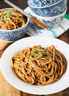 want this right now! ::: Cold Spicy Peanut Sesame Noodles   tablefortwoblog.com