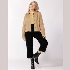 Take Charge Safari Jacket in Latte by SASS  is a great staple for your wardrobe. This women's jacket has a collar and ha a boxy silhouette. The jacket also has 2 large pockets on the front and sits approximately at the waistline. Comes in Latte and Fern.  Wear this jacket with jeans and sneakers for a casual look or with high waist pants and high heeled boots for a night out of town. #fashion #womensfashion #jacket #alibionline High Heel Boots, Heeled Boots, Take Charge, Safari Jacket, Jeans And Sneakers, Fern, Casual Looks, Latte, High Waist