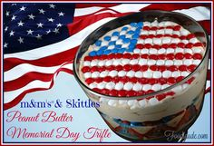 M&M's® and Skittles® Peanut Butter Memorial Day Trifle #CelebrateWithM #CollectiveBias #ad