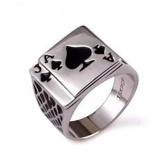 Ace of Spades Men's Ring