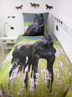 Herding Young Collection Horse Single Duvet Cover And Large Square  Pillowcase. Girls Horse BedroomsHorse Themed ...