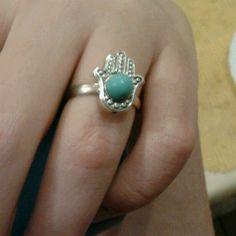 hamsa hand by Erika Personal Taste, Hamsa Hand, Erika, January, Turquoise, Rings, Jewelry, Style, Swag