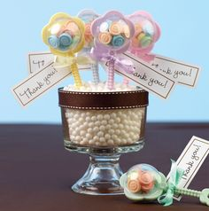 Rattle Bouquets . . .creative centerpieces for baby showers.