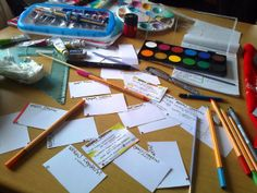 Creating handmade business cards!