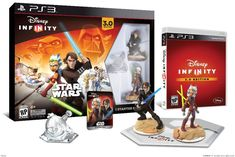 Disney Infinity Star Wars Episodes I - III and Clone Wars Figures! Disney Infinity Starter Set with Anakin and Ahsoka Obi-wan Kenobi Yoda Darth Maul Disney Infinity Edition: Star Wars. Disney Pixar, Star Wars Disney, Star Wars 7, Disney Games, Disney Marvel, Disney Infinity, Infinity War, Wii U, Nintendo Wii