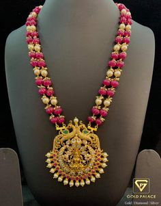 Gold Necklace Simple, Gold Jewelry Simple, Coral Jewelry, Ruby Jewelry, India Jewelry, Gold Necklaces, Blue Necklace, Jewelry Design Earrings, Bead Jewellery