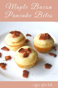 Maple Bacon Pancake Bites are a perfect breakfast treat.  Easy for the kids to grab before school. #recipe #breakfast #kids