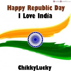 26 January I Love My India Profile With Name & Photo Create Name, Create Picture, Happy Birthday Wishes Photos, Birthday Images, Wish Online, Photo Maker, Latest Good Morning, Writing Pictures, Online Photo Editing
