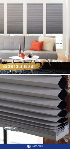Crisp style + blackout. In one sleek package you get a modern look, insulation and complete light blocking! Find Blackout Cellular Shades at Blinds.com.