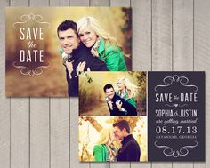 Save the Date Card Printable by Vintage by vintagesweetdesign, $10.00