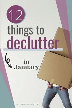 Let's kick off the year 2021 with 12 things to purge in January! This declutter checklist is easy enough to build momentum and help you set the stage for a successful decluttering journey this year. Let's reach your decluttering goals and start living with enough in 2021. Declutter Your Home, Organizing Your Home, Simple Blog, Make It Simple, January Sign, Focus On Yourself, Minimalist Living, Feeling Overwhelmed, Decluttering