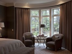 dark taupe #drapes #curtains, #windowtreatments
