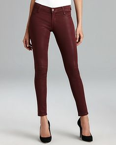 Quotation: James Jeans - Coated Twiggy Skinny in Sienna | Bloomingdale's