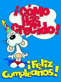 Un abrazote. Happy B Day Images, Happy Birthday Images, Birthday Pictures, Happy Birthday Cards, Birthday Greetings, Birthday Wishes Messages, Birthday Wishes For Friend, Birthday Quotes, E Cards