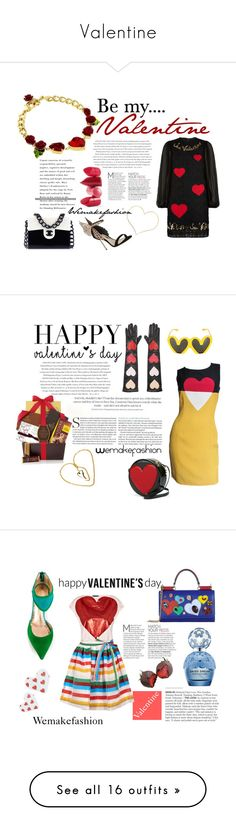 """""""Valentine"""" by wemakefashion ❤ liked on Polyvore featuring Dolce&Gabbana, Chanel, Envi, Sophia Webster, Rossetto, women's clothing, women, female, woman and misses"""