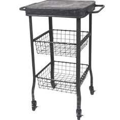 Wilco Metal 2 Drawer Rolling Cart