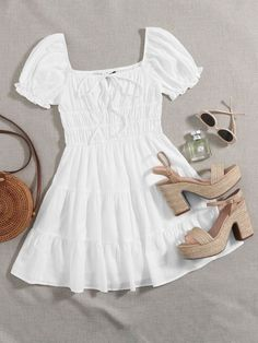 Cute Casual Outfits, Pretty Outfits, Stylish Outfits, Summer Outfits, Girls Fashion Clothes, Teen Fashion Outfits, Trendy Fashion, Fashion Dresses, Women's Fashion