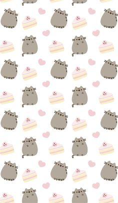 Pusheen Wallpaper, Cat Wallpaper, Kawaii Wallpaper, Cellphone Wallpaper, Iphone Wallpaper, Retro Wallpaper, Kawaii Drawings, Cute Drawings, Phone Backgrounds
