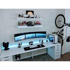 Video game room ideas, game room setup, gaming setup for bedroom, PC game setup, gaming console room setup, entertainment room, men's cave, boy's cave, video game themed room. #gaming #console #PC #setup #gamingsetup #gamingroom #bedroom #boyscave #menscave